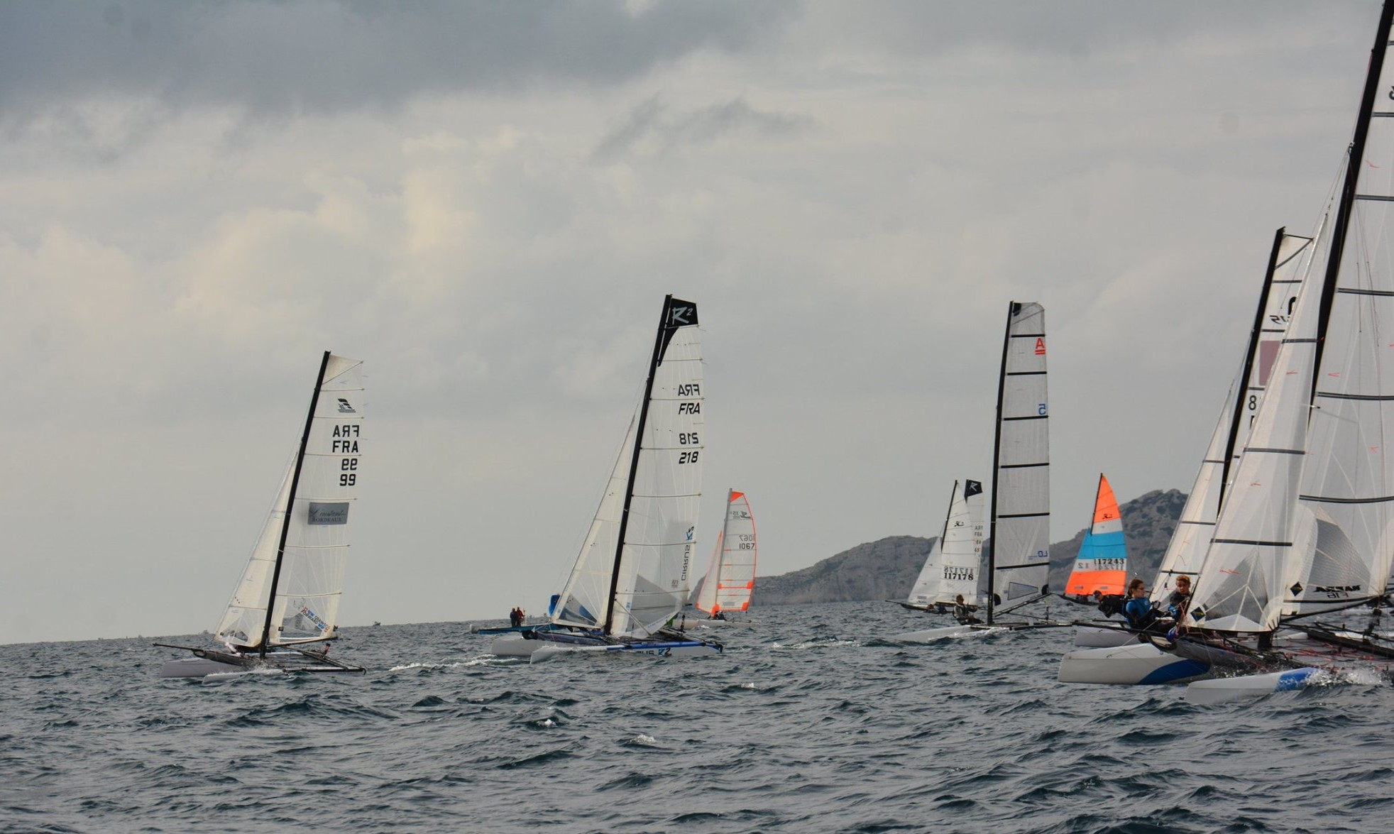 Départ sur le Championnat de France catamaran